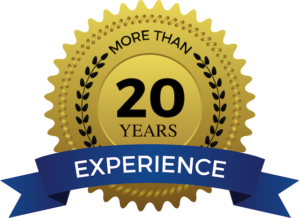 over 20 years experience badge